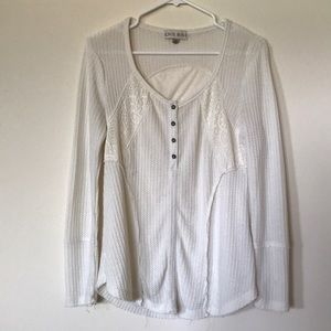 Cream Knit Long-Sleeve by Knox Rose